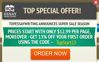 Special Discount on the First Order